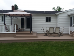 Back decks with a customized wood look in Clio, MI