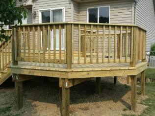 All wood hand made back decks in Clio, MI