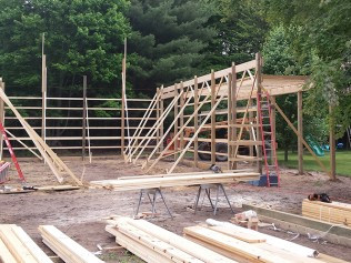 The process of building pole barns in Clio, MI