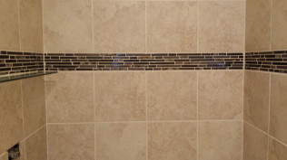 Fancy Titling in recently remodeled shower in Clio, MI
