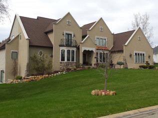 side view of new home construction in Clio, MI
