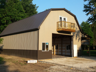 Newly constructed pole barns in Clio, MI