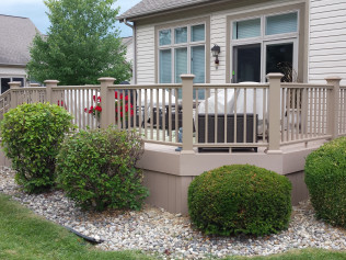 Full View of Remodeled Decks in Clio, MI