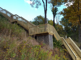 Remodeled Decks with wood stairs in Clio, MI
