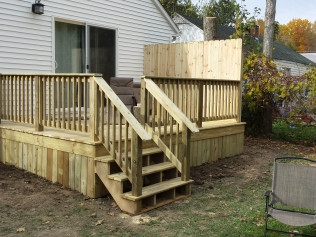 newly remodeled all wood back decks in Clio, MI