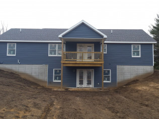 Back yard of a new home construction in Clio, MI