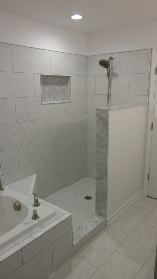 Remodeled shower and bathroom in Clio, MI