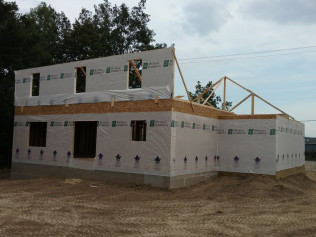 New Construction in Clio, Mi gets a second floor during construction