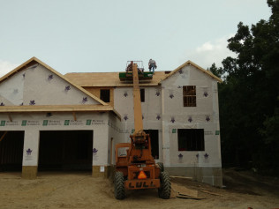 New home construction in Clio, MI almost completed. Structure is done, just needing siding and roof