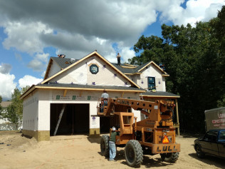 Roof finished on new  home construction in Clio, MI