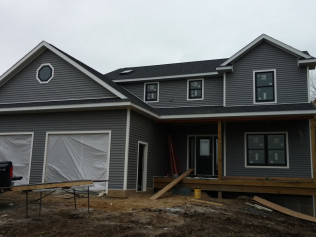 Finished product of the new home construction in Clio, MI